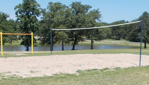 sand volleyball at foster park