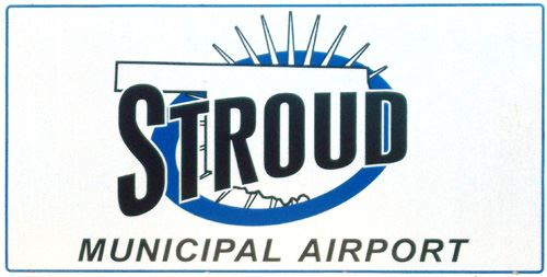 Stroud Municipal Airport sign
