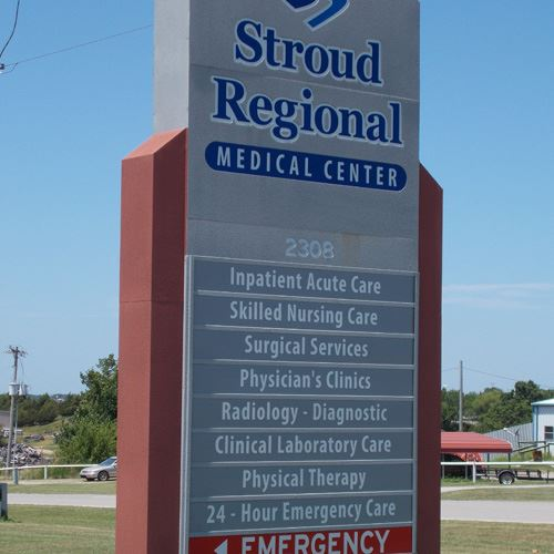 Stroud Regional Medical Center sign